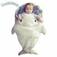 Baby Newborn Sleeping Bag Autumn Winter Baby Stroller Bag Toddler Baby Cotton Warm Sleepsacks Thick Shark Shape Anti Kick Quilt