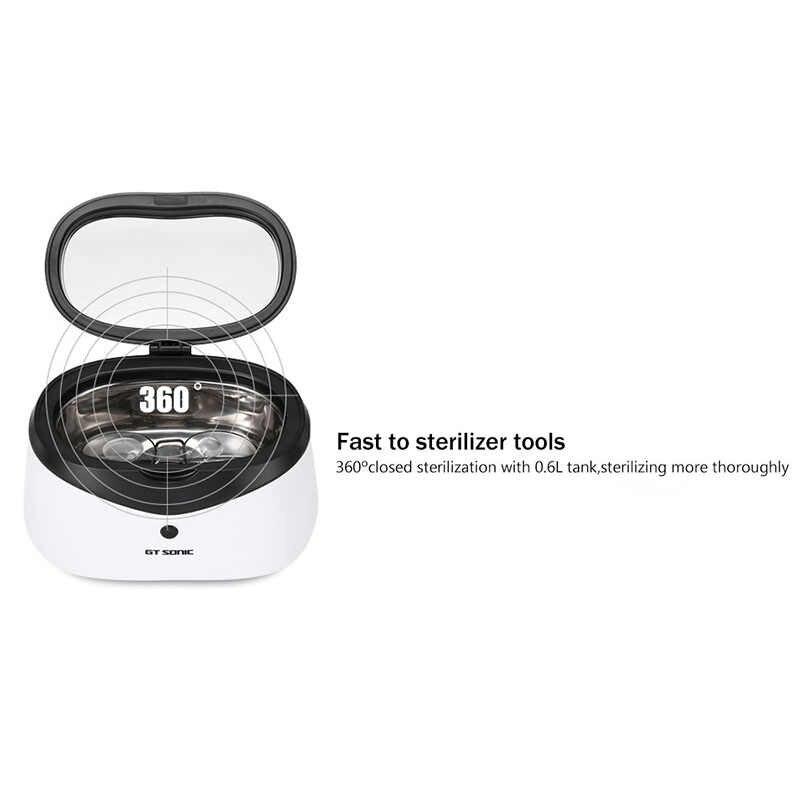 Kỹ thuật số Siêu Âm Máy Thông Cleaner Giỏ Trang Sức Đồng Hồ Dental 0.6L 35 Wát 42 KHz Sạch Siêu Âm Mini Công Cụ Nail