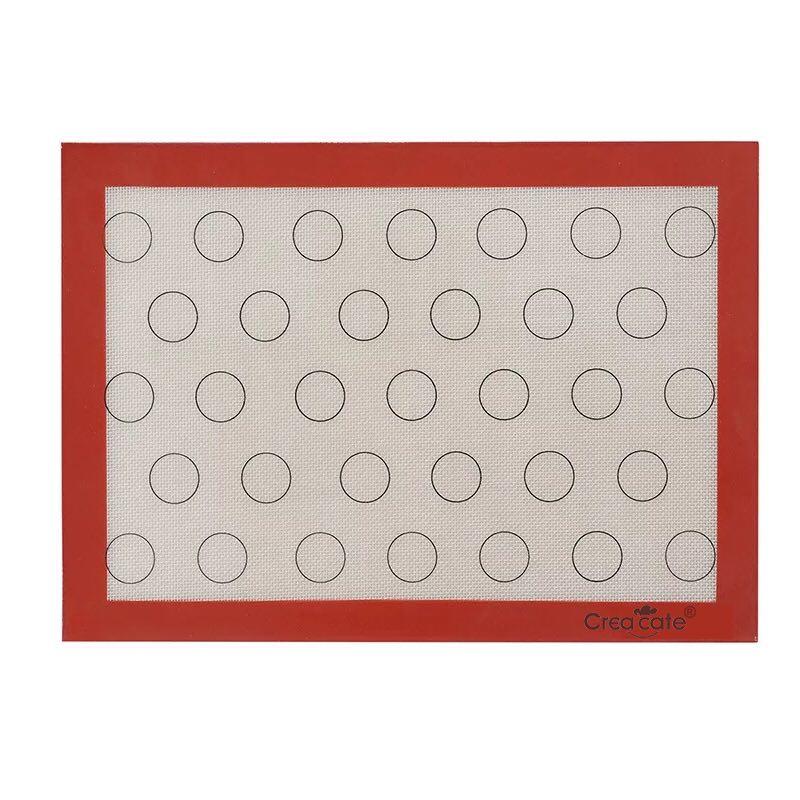 Creacate Антипригарное покрытие 28 круг LG Macarroon Противень для выпечки Macaron Силиконовый стекловолоконный мат Силиконовый противень для макарон