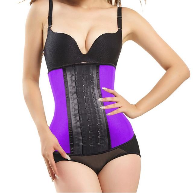 6708f1df1ba New Fashion Top body shapers steel bones Latex Waist Trainer women Cincher  Rubber Waist Corset underbust Slimming Belt