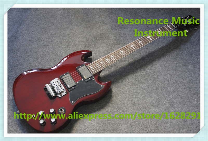 New Arrival China Heritage Cherry Tony Lommi SG Electric Guitars With Floyd Rose Tremolo For Sale hot selling china quilted finish musicman ax 40 electric guitar with chrome floyd rose tremolo for sale