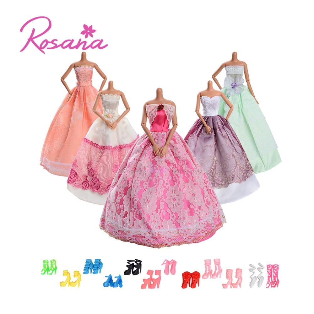 2 Pcs//set Fashion Dolls Clothes for  Dress Pants with Magic Pasting Toy JB