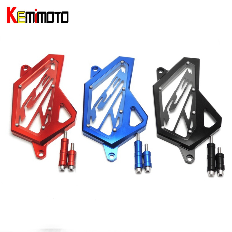 KEMiMOTO MT 03 CNC Front Sprocket Cover Chain Guard Protector For YAMAHA YZF-R25 YZF-R3  2015 2016 2017 Motorbike  Parts cnc aluminum front sprocket cover chain guard cover for yamaha yzf r3 2015 2016