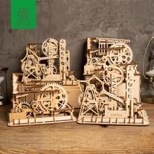 hot deal buy robud 4 kinds creative diy 3d magic gear drive ball crash gift for children adult wooden model building kits toys hobbies lg