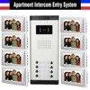 Apartment Intercom System 7 Inch Monitor 8 Units Apartment Video Door Phone Intercom System Color Wired