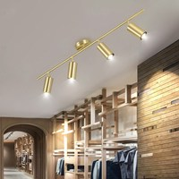 Artpad Rotatable Simple Golden Ceiling Light Fixture Nordic Ceiling Lamp Spot Led Cloth Shop Living Room Aisle Kitchen E27 220V