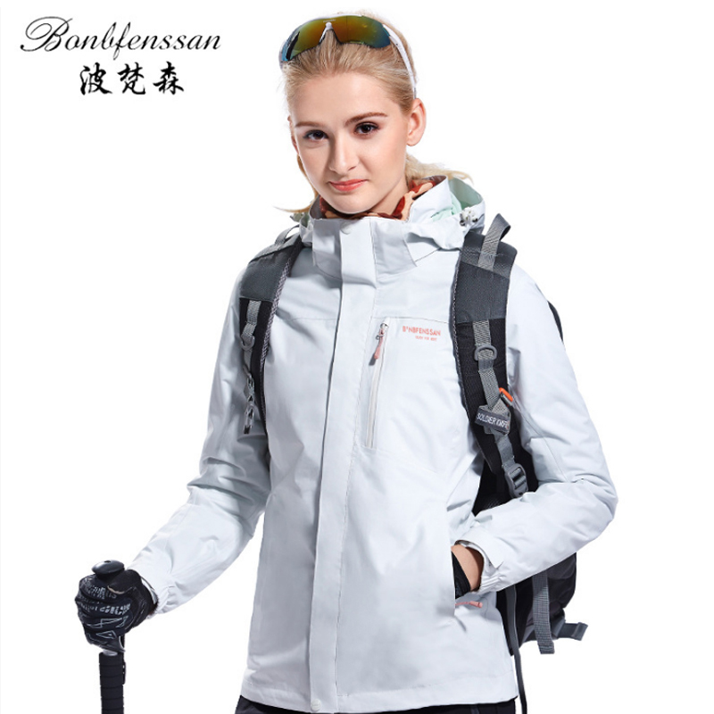 camel outdoor jacket 3 in 1 women windproof waterproof jacket female camping hiking jackets rain windstopper windbreaker Women Winter 3 in 1 Inner Fleece Outdoor Jackets Thermal Waterproof Windproof Sports Camping Hiking Female Hiking Jacket 8708B