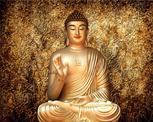 3D relief Buddha statues