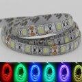 Super Brillante Led RGB Luz de Tira 5050 SMD Los 60led/M DC12V diodo Cinta Ligera Flexible PCB doble Cadena Impermeable Cinta de la lámpara 1-5 m