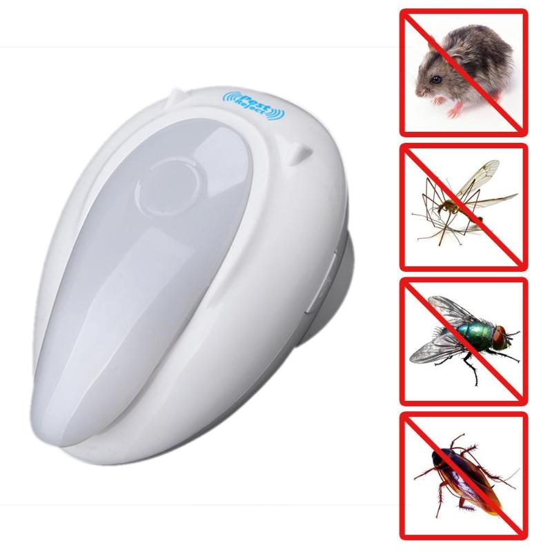AC95~250V Ultrasonic Mosquito Repeller Mosquito Killer Rat Repellent Indoor Electronic Pest Repeller Rejector US Plug