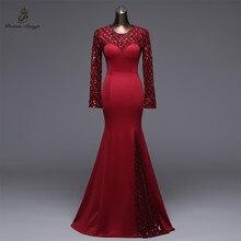 Gedichten Liedjes Slit Side Open Mermaid Avondjurk prom jassen Formele Party dress vestido de festa Elegante Vintage robe longue