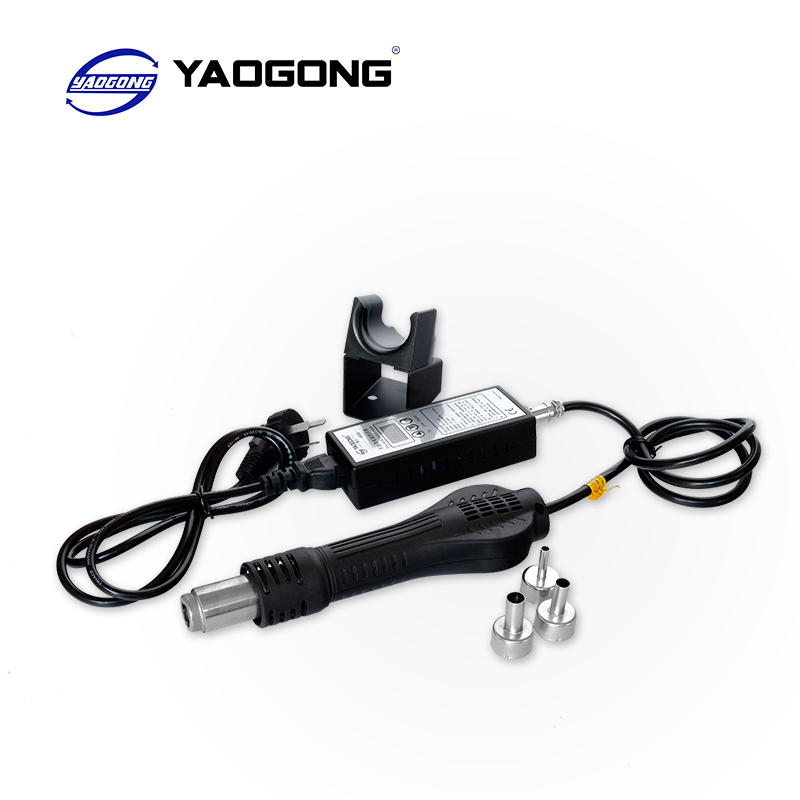 YAOGONG 8858 110V 220V Portable Hot Air Gun BGA Rework Solder Station Hot Air Blower Heat Gun Intelligent detection and cool air bg removable bga rework solder lcd digital hot air gun heat gun welding toolsa rework station 220v portable