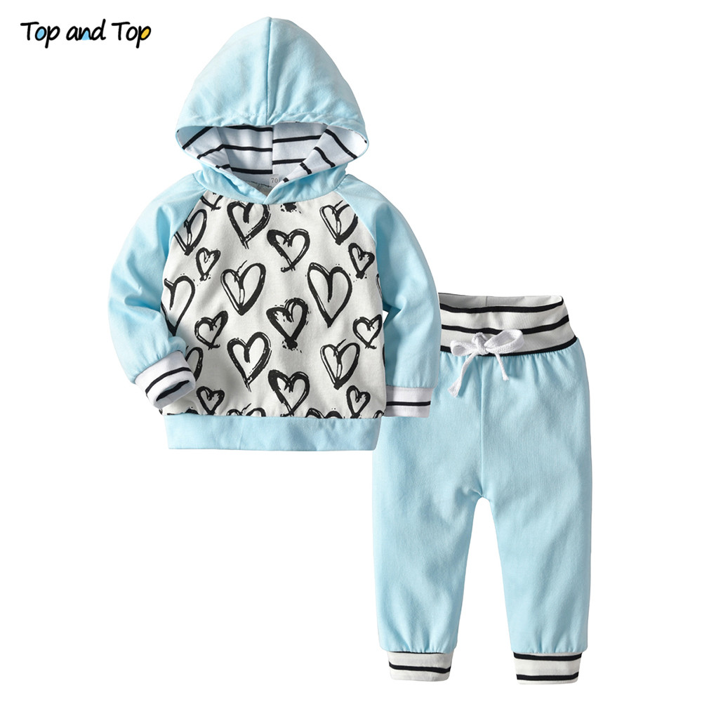 Clothing-Set Baby-Girl Suit Sweatshirt Hoodies Autumn Fashion Top And 2pcs Spring Trousers