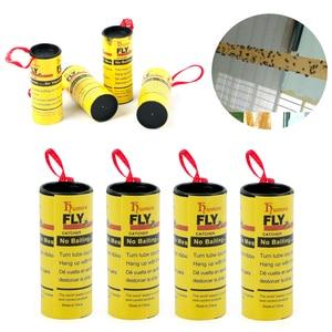 Image 3 - 4 לחמניות לטוס דבק נייר הדברה זבוב רוצח חרקים באג מלכודת רצועת סרט דביק Fies קיץ כלים