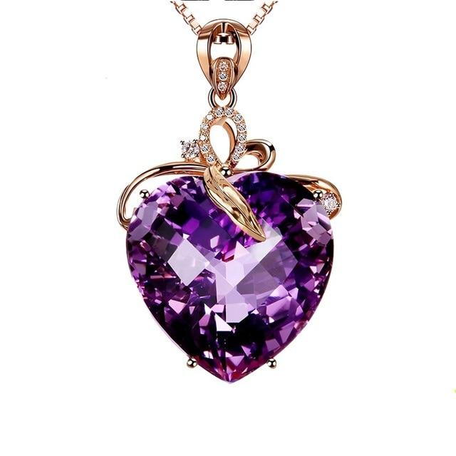 Women NecklaceJewelry Heart Shape Crystal Chain Choker Necklace Jewelry  Gift 1