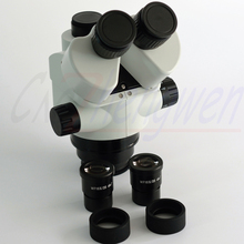 FYSCOPE NEW SMART SIMUL FOCAL MICROSCOPE 3.5X-45X ARTICULATING ARM ZOOM STEREO MICROSCOPE +56LED