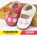 2017 spring/autumn toddlers infant soft outsole little girl Full leather shoes 0-1 year old baby shoes Enfant First walkers