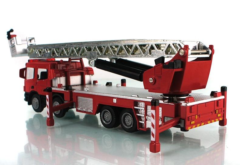 Hot sale Fire truck Set Kids Toy 1:50 car model alloy diecast Kaidiwei 620014 KDW Ladder truck Recovery vehicles boy gift 1 pcs luxurious exquisite truck fire truck car model sound