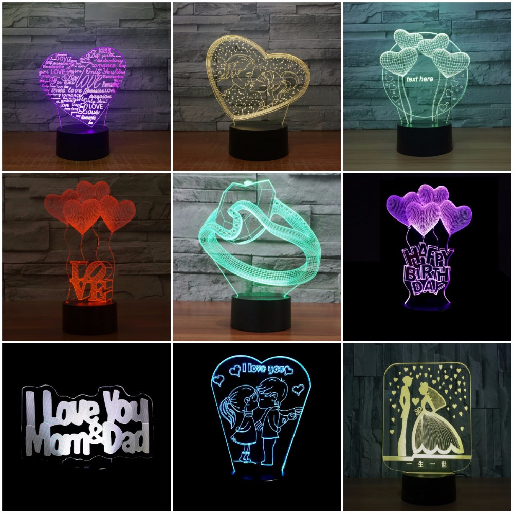 Lights & Lighting Latest Collection Of 3d Illusion Lighting I Love You Led Night Light Multicolor Lamp Romantic Valentines Holiday Gift 3d Lamp For Girls