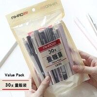 JIANWU 30pcs Set 0 5mm Cute Cartoon Value Package Neuter Pen Simple Business Style Gel Pens