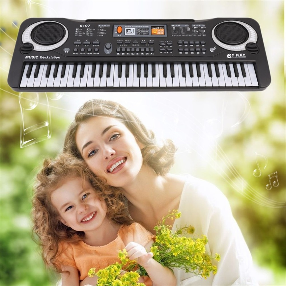 Multifunction 61 Keys Digital Music Electronic Keyboard Board Electric Piano Organ For Kids Adult Gifts Instrument Keyboard