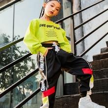 Танцевальный костюм в стиле хип-хоп; джазовые костюмы для девочек; одежда для уличных танцев; детское платье для сцены; DQS1043