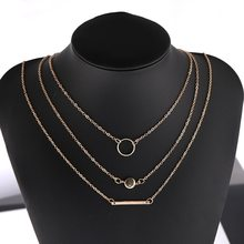 European and American Personality Fashion Joker Metal Bar Necklace Wholesale Choker Initial Necklace Pendant Necklace(China)