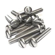 M4 Stainless Steel Machine Screws, Slotted Pan Head Bolts M4*10mm 50pcs