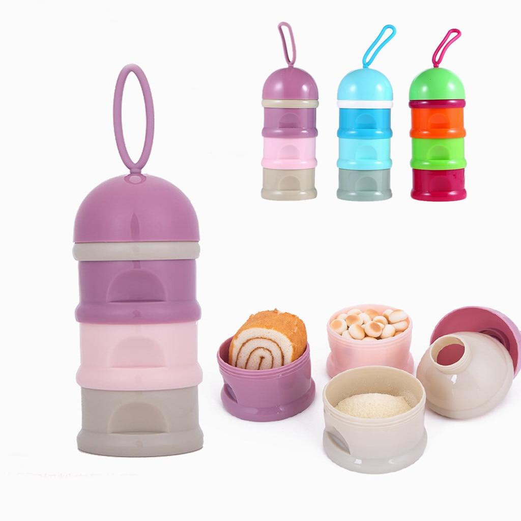 Hell 3 Schicht Tragbare Baby Lebensmittel Lagerung Box Ätherisches Getreide Milch Pulver Boxen Kleinkind Kinder Formel Milch Behälter Snack Box # Tgr15zf Fütterung