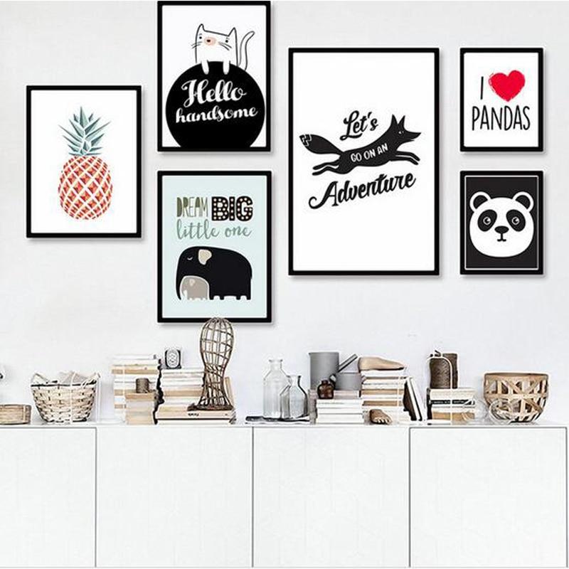 Новинка, скандинавские Мультяшные животные, медведь, искусство, холст, печать, постеры, домашний декор, настенная живопись, настенные картин...