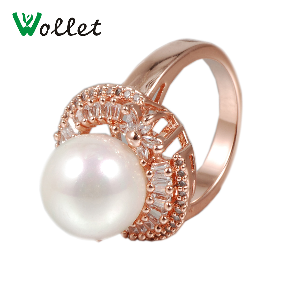 Wollet Magnetic Pure Copper Ring Health Bead Rose Color