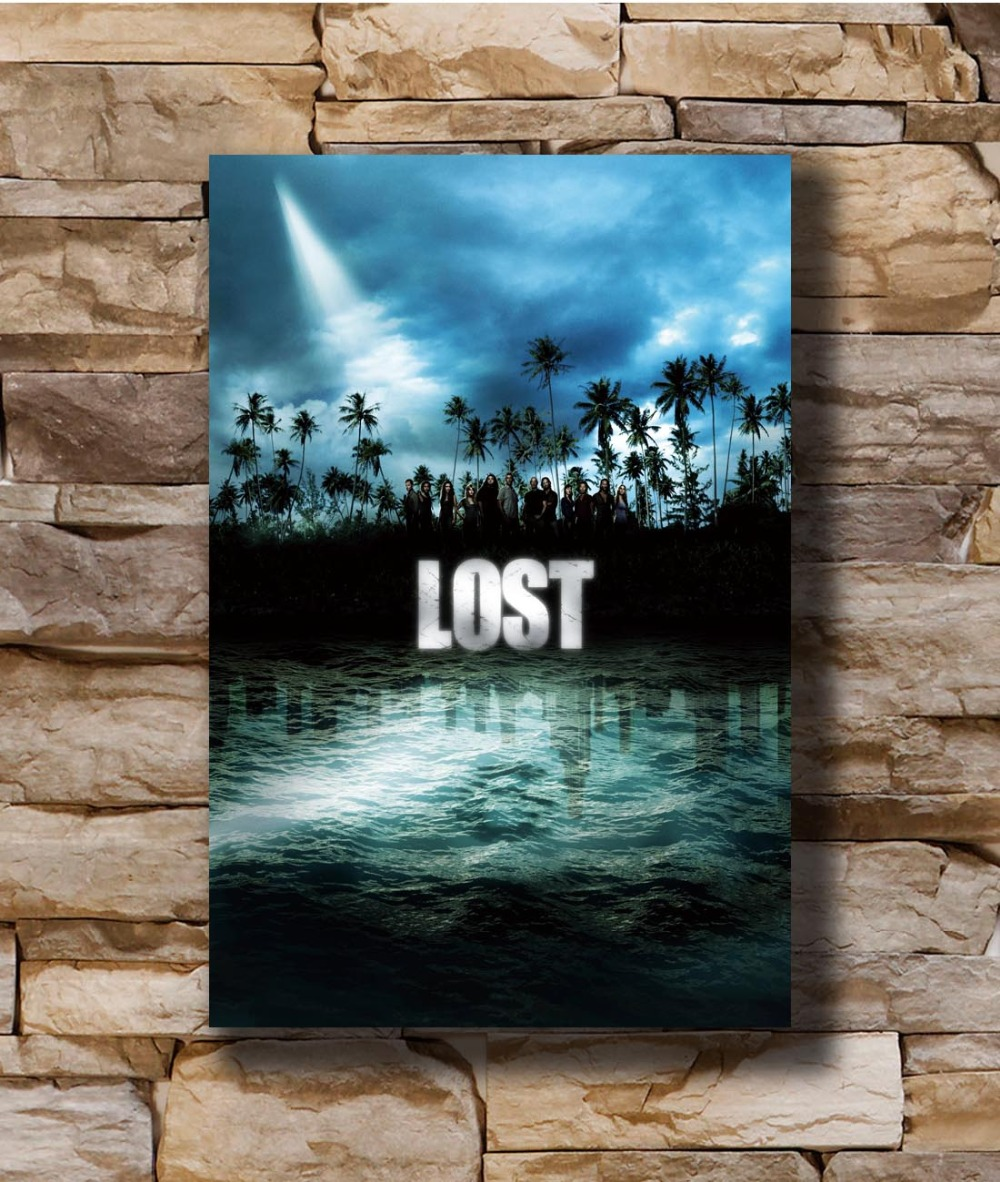 The Island from the TV Show Lost Art Silk Poster 12x18 24x36