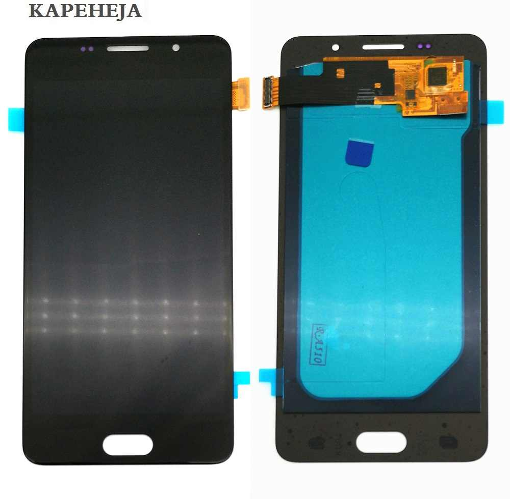 Super AMOLED จอแสดงผล LCD สำหรับ Samsung Galaxy A5 2016 A510 A510F A510M จอแสดงผล LCD Touch Screen Digitizer Assembly
