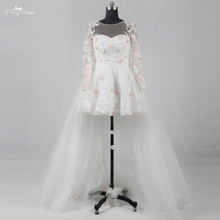 RSW1136 Real Pictures Yiaibridal 3D Pink Wedding Dress