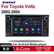 ZaiXi 2din Android 9.0 Octa Core 4GB RAM Car DVD for Toyota Voltz 2002~2004 GPS Radio BT Navi MAP Multimedia player system цена