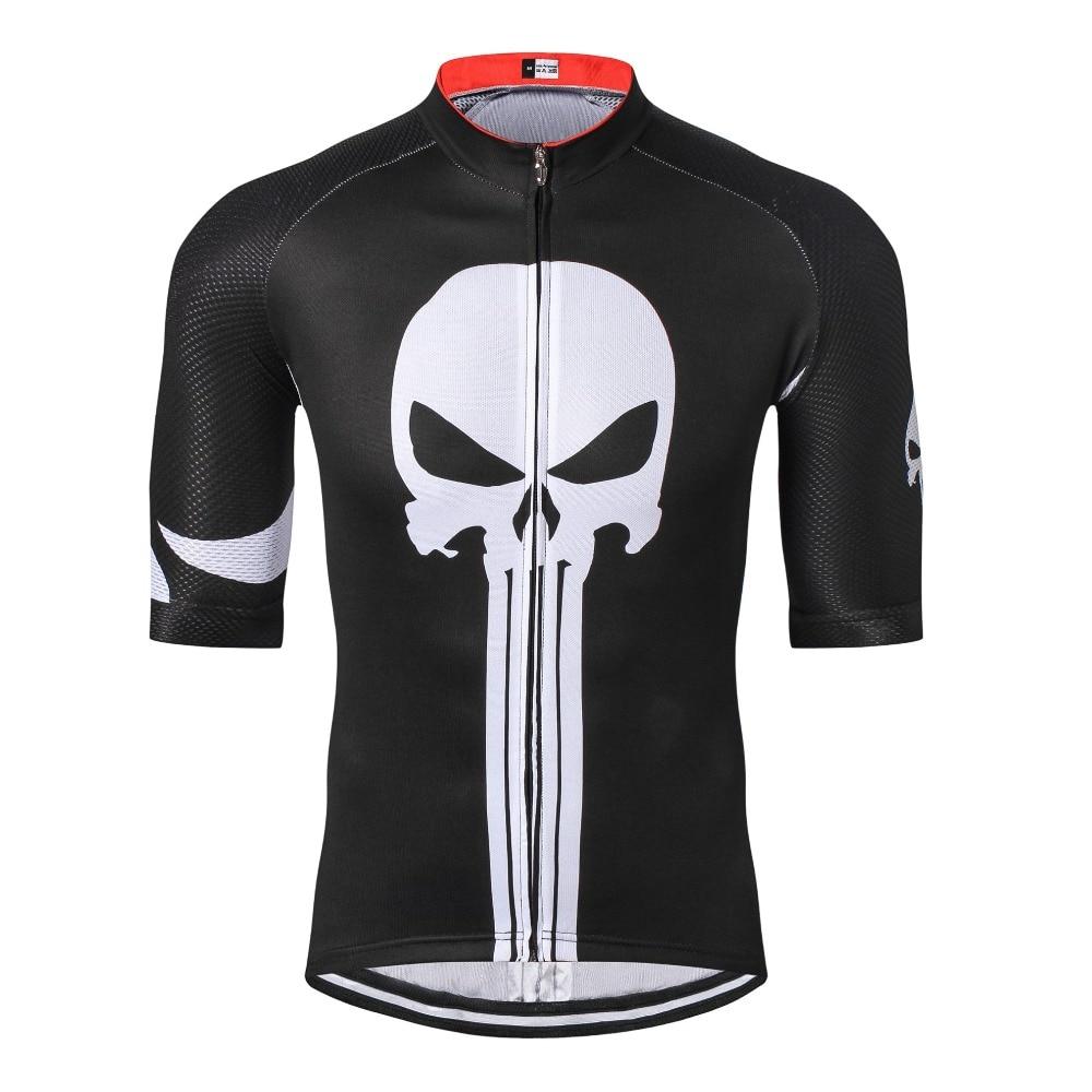 Bright Weimostar Pro Team Men Cycling Jersey Short Half Sleeve Mtb Biking Top Bike T-shirts Black Punisher S-xxxl Cycling Clothings Cycling Jerseys