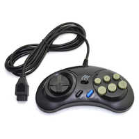 Game controller for SEGA Genesis handle controller Gamepad for SEGA MD Game Accessories Bring turbo and slow function Black