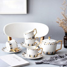 Creative coffee cups set British Porcelain Tea Set bone china porcelain Scented tea partyTeatime Afternoon Teapot Cup Mug
