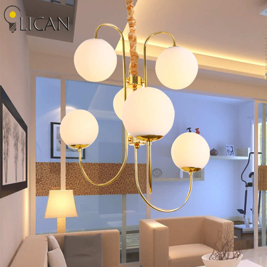 LICAN Modern Glass Pendant Chandeliers Lights For Dining Room Home Decoration Chandeliers Lights Lighting fixtures Luminire
