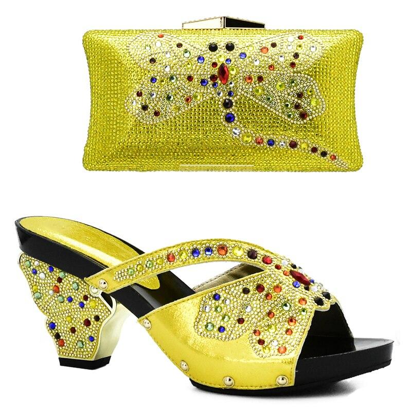 Chaussures argent Italien yellow Qualité Assorties Mariage Africain Africaine Ensemble Et Femmes Noir Dans De Haute Couleur Violet pourpre vert Sac Nigérian Sacs xFqw1Y1E
