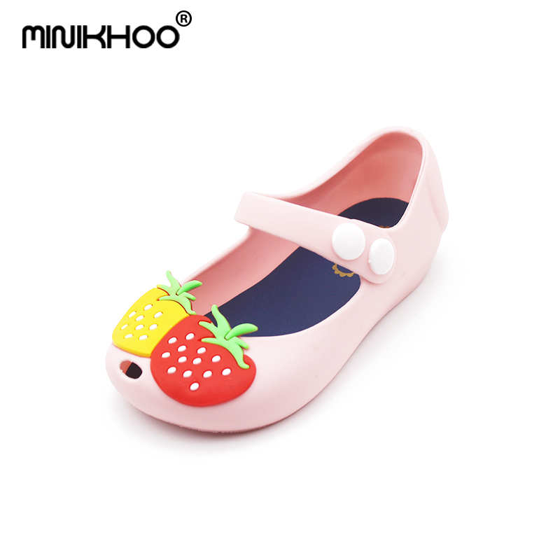 Mini Melissa 2018 New Summer Girl Jelly Sandals Snow White Children Jelly Shoes Mini Melissa Cute Princess Shoes Breathable