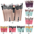 20 Unids/set Pinceles de Maquillaje Pro Powder Blush Fundación Sombra de Ojos Delineador de Labios Oro Cepillo Cosmético Kit de Herramienta de La Belleza