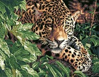MaHuaf W546 Leopard DIY Oil Painting By Numbers Wall Art Picture Home Decor Acrylic Paint On