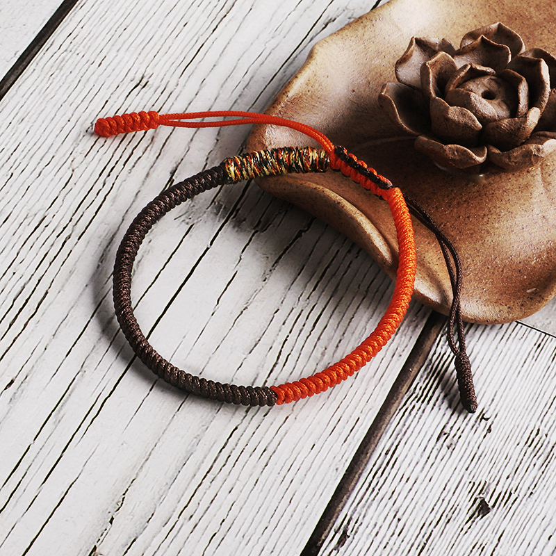 Handmade Good lucky Knots Rope Bracelets & Bangles Men Tibetan Buddhist Mix Color Knots Rope Budda Bracelet For Women