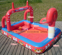 Xx8011 Inflatable Play Pool With Basketball,Football & Ring Toss Swimming Pool For Kids Made Of Nontoxic High Density Tough PVC