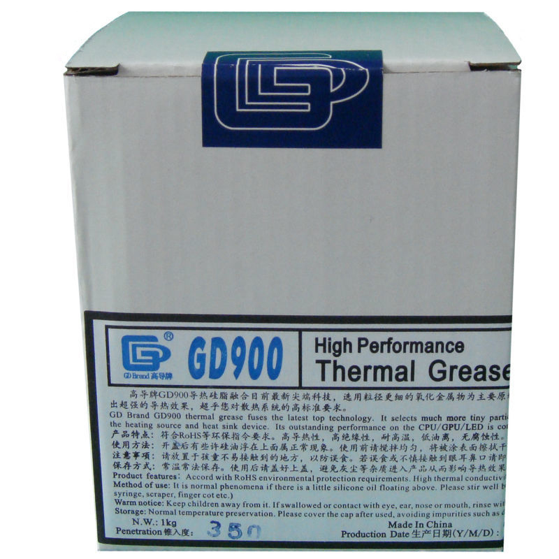 GD900 Gray Net Weight 1000 Gram Thermal Grease Silicone High Performance For Heat Sink For CPU GPU Cooler CN1000
