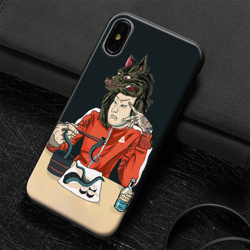 Japanese Samurai Fashion Design Tempered Glass Soft Silicone Phone Case For Apple Iphone 5s Se 6 6s 7 8 Plus X Xr Xs 11 Pro Max Fitted Cases Aliexpress