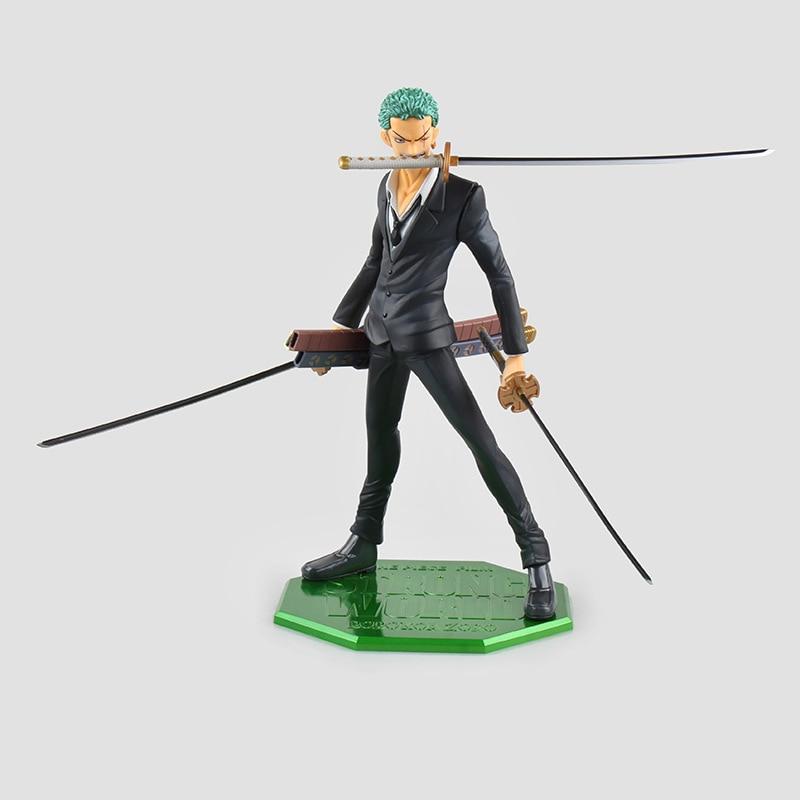 ФОТО One Piece Zoro Figure POP Strong World PVC 210mm One Piece Action Figures Anime Toys Roronoa Zoro Model Onepiece-Action-Figures