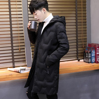 Autumn and winter season youth popular new men's Winter Coat 2018 cold and warm long hooded student men's down jacket
