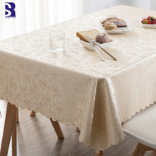 SunnyRain 1-Piece PVC Oilproof Tablecloth Waterproof Table Cloth for Dining Rectangle Cover Round Tablecloths